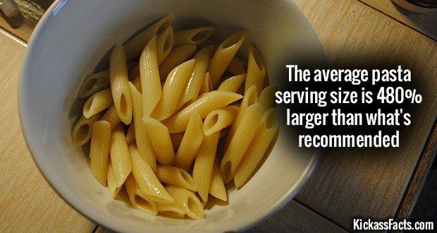 1203 Pasta serving