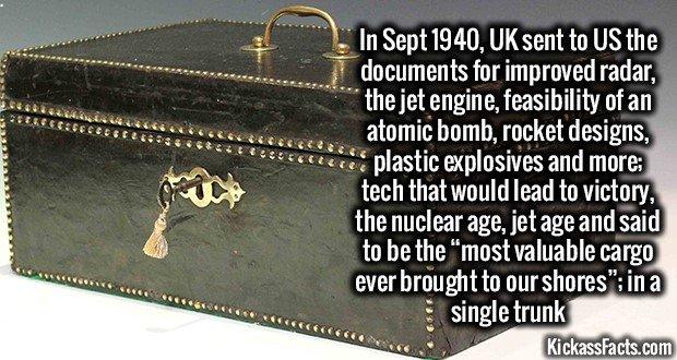 1238 Black japanned metal deed box