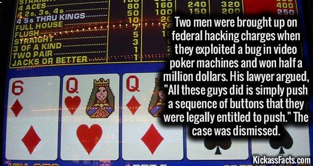1416 Video Poker Machines