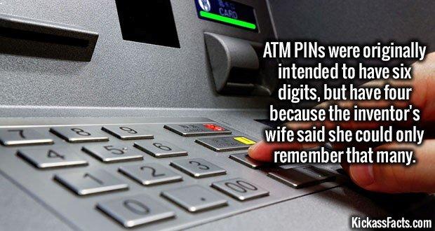 1722 ATM PINs