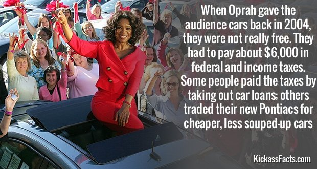 Oprah Car Giveaway: 20 MORE KICKASS FACTS WITH KICKASS SOURCES