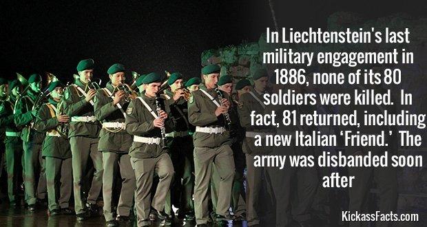 810Liechtenstein's Military
