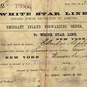 TITANIC TICKET-Interesting Facts About Titanic