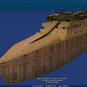 Titanic-wreck-Interesting Facts About Google Earth and Maps