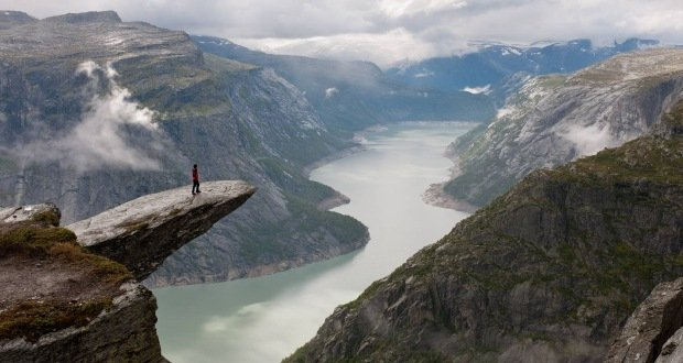 Trolltunga Cliff-Surreal Places on Earth