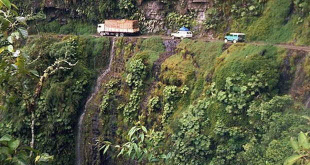 1. Yungas Road, Bolivia-Precarious Places on Earth
