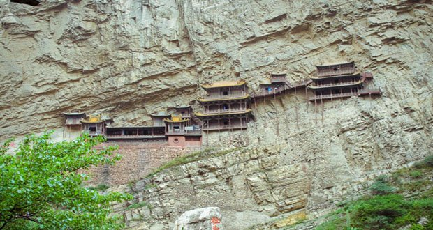 10. Xuankong Temple, China-Precarious Places on Earth
