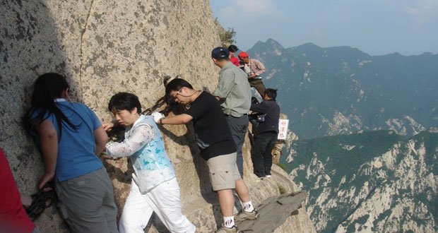 4. Mount Hua Plank Walk, China-Precarious Places on Earth