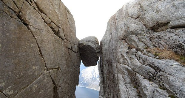 9. Kjeragbolten, Norway-Precarious Places on Earth