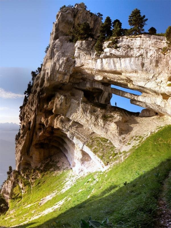 15.  Chartreuse Arch, French Alps