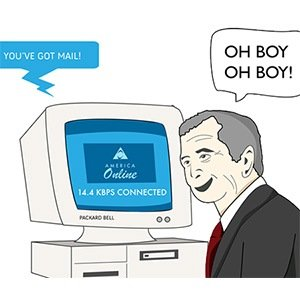 AOL Dial-up internet- Interesting Facts About Internet