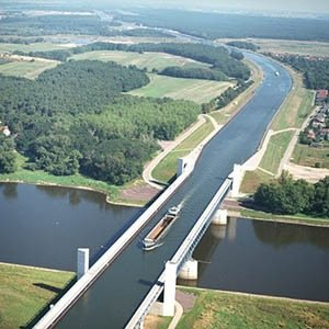 Elbe water bridge-Interesting Facts About Rivers