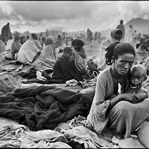 Famine refugees in a camp in Korem, Tigray region. Ethiopia, November 1984