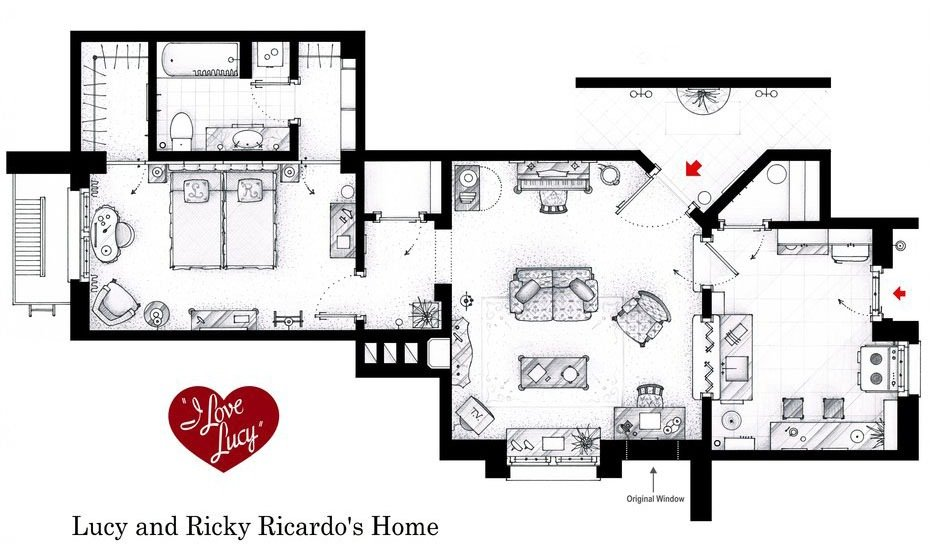 I Love Lucy - Lucy and Ricky Ricardo Home