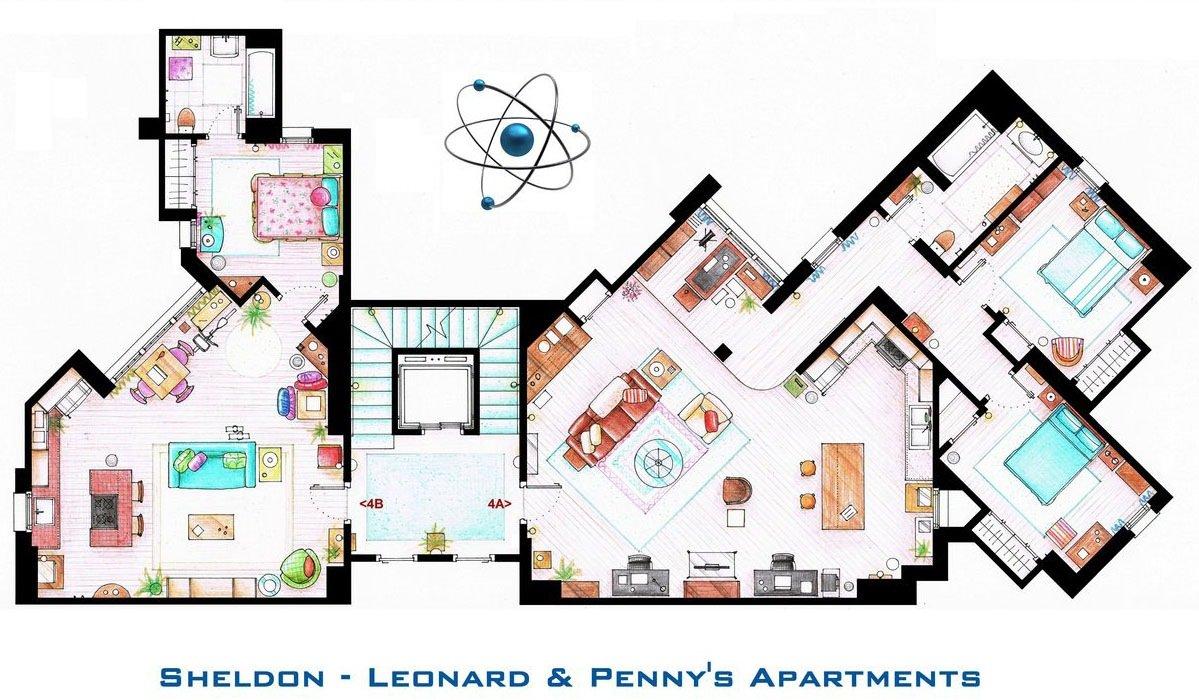 The Big Bang Theory - Sheldon - Leonard's and Penny's Apartment