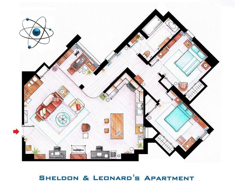 The Big Bang Theory - Sheldon and Leonard's Apartment