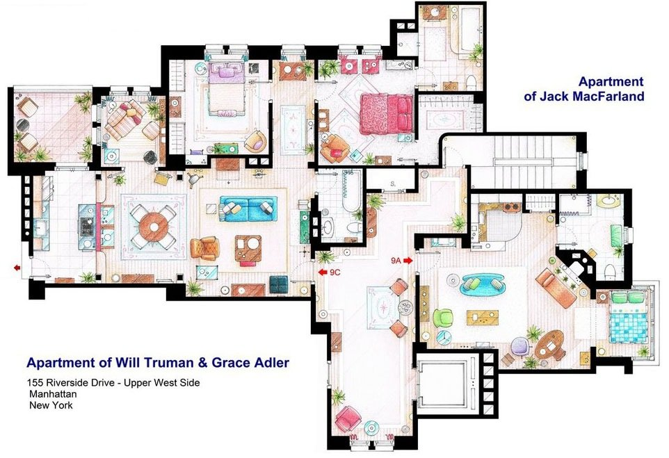 Will & Grace - Apartments of Will Truman, Grace Adler and Jack