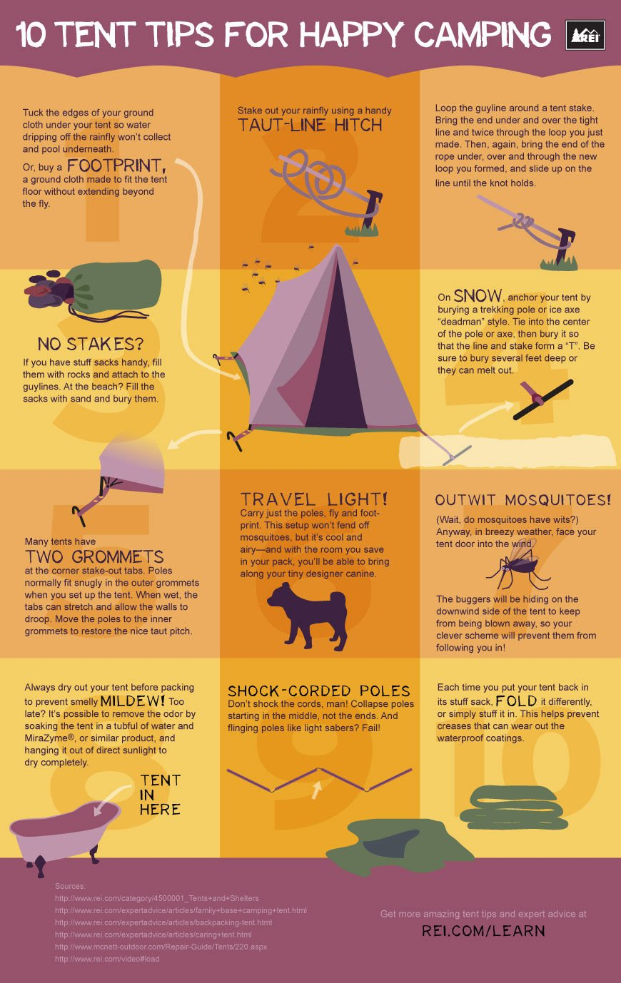 02 Tent Tips for Happy Camping (Infographic)