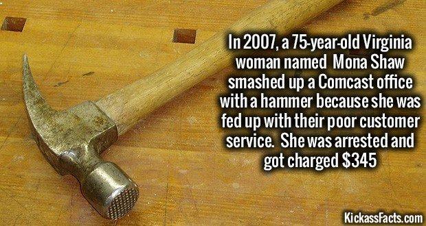 1032 Mona 'The Hammer' Shaw