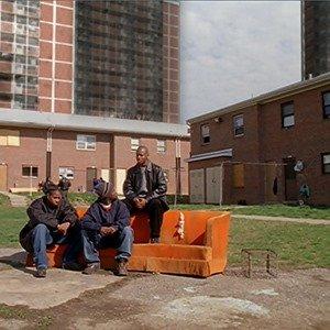 That orange couch