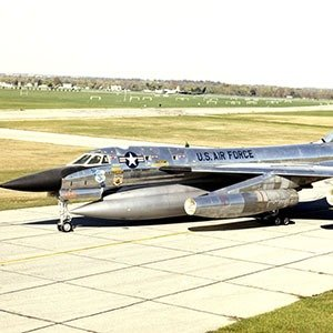 DAYTON, Ohio -- Convair B-58 Hustler at the National Museum of the United States Air Force. (U.S. Air Force photo)