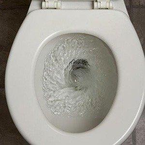 Toilets flow