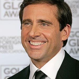 Steve Carell poses backstage after making an award presentation at the 64th Annual Golden Globe Awards on Monday, Jan. 15, 2007, in Beverly Hills, Calif.  (AP Photo/Kevork Djansezian) AP  CARG167 STF Golden Globes Press Room