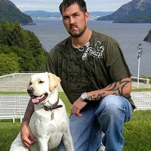 Marcus Luttrell with his Dog