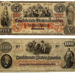 Counterfeited Confederate currency